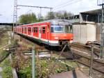 Triebwagen/110108/ein-db-420-ist-am-25042008 Ein DB 420 ist am 25.04.2008 im Bahnhof Gladbeck-West von Essen her nach Haltern unterwegs.
