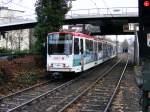 Strasenbahn - Stadtbahn/109214/ein-stadtbahnwagen-b-der-dortmunder-stadtwerke Ein Stadtbahnwagen B der Dortmunder Stadtwerke wird am 19.12.2008 von der Innenstadt her gleich in die Haltestelle 'Kohlgartenstraße' einfahren.