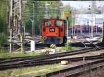 Lokomotiven/110204/eine-kleine-rangierdiesellok-der-rhb-ist Eine kleine Rangierdiesellok der RHB ist am 25.04.2008 im Bahnhof Gladbeck-West unterwegs.